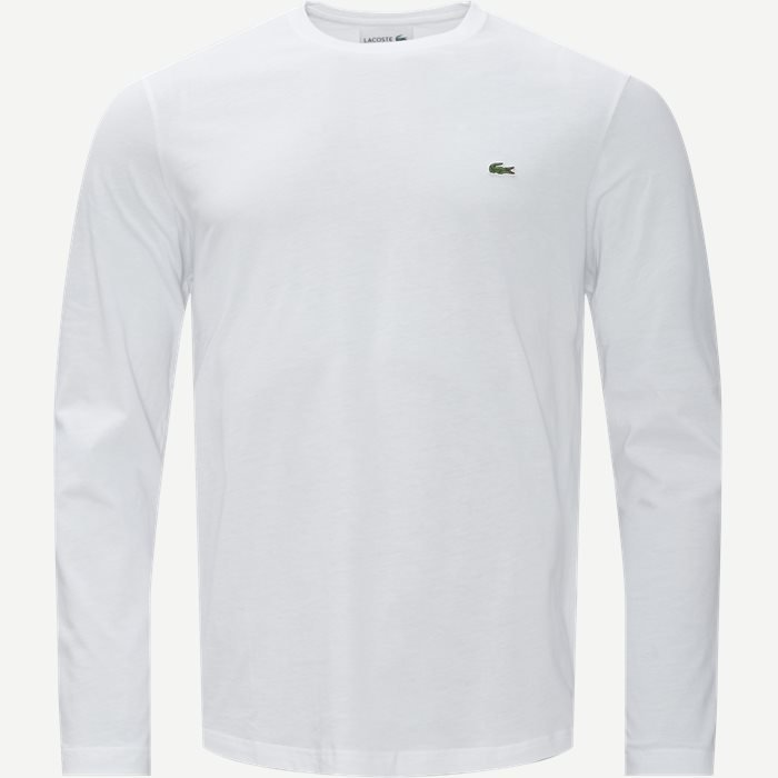 Long Sleeve Crew Neck - T-shirts - Regular - Hvid