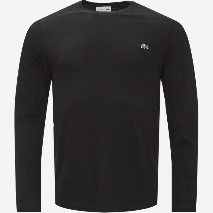 Long Sleeve Crew Neck - T-shirts - Regular - Sort