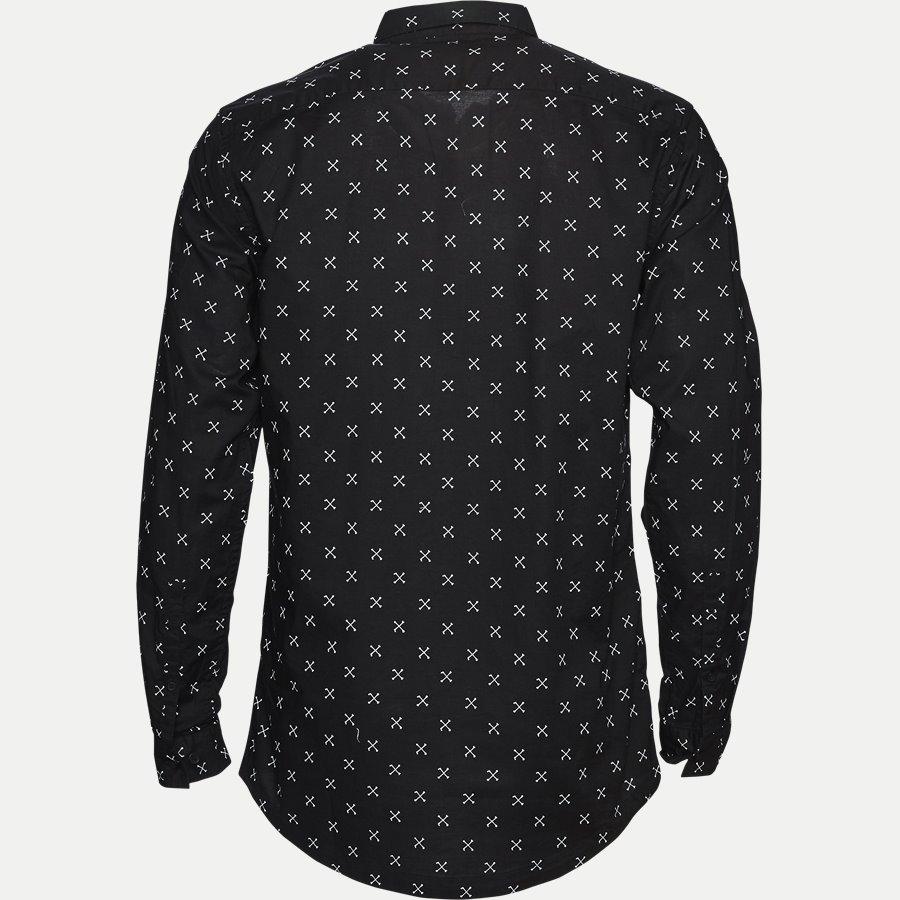60982 DROOPY PRINT - Regular Skjorte - Skjorter - Regular - SORT - 2