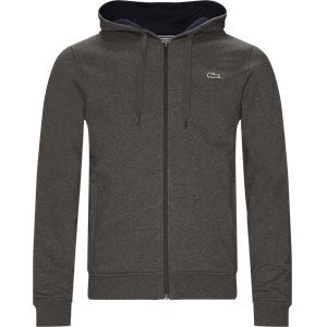 Hooded Zippered Sweatshirt Regular | Hooded Zippered Sweatshirt | Grå