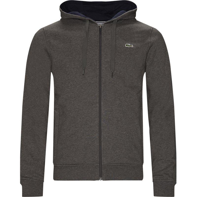 Lacoste - hooded zippered sweatshirt fra lacoste fra kaufmann.dk