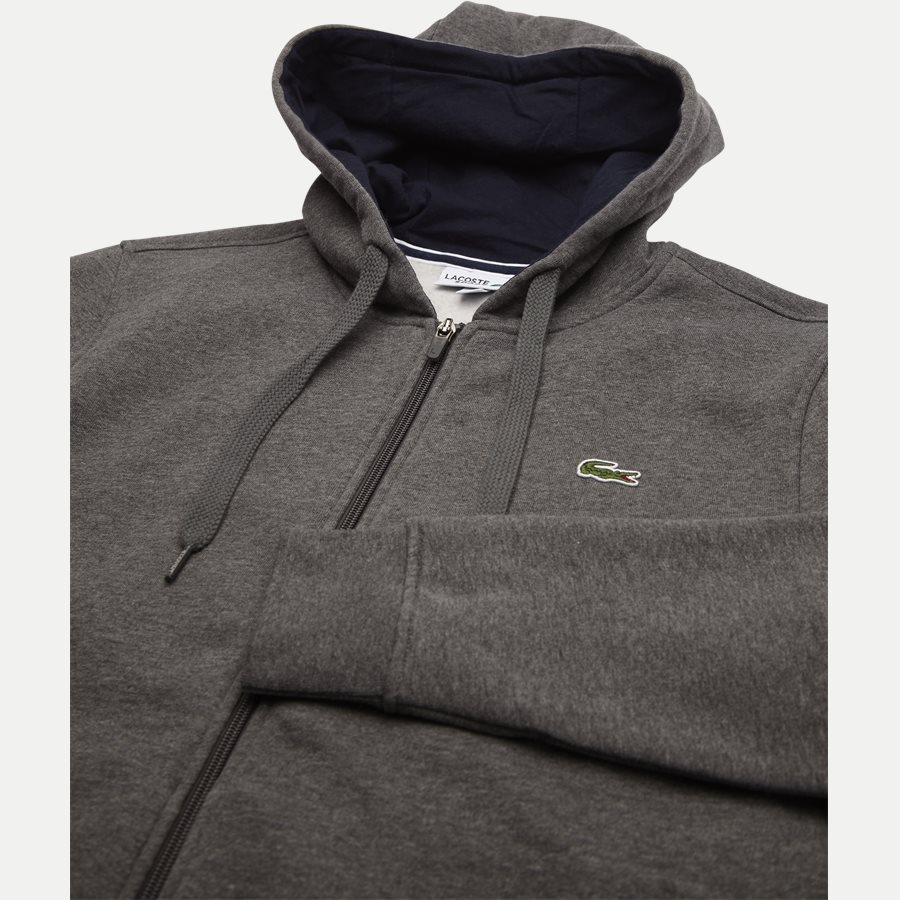 SH7609 - Hooded Zippered Sweatshirt - Sweatshirts - Regular - KOKS - 3