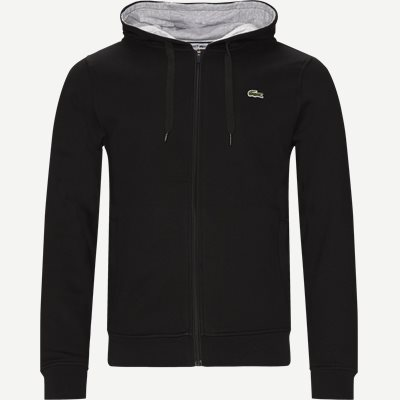 Hooded Zippered Sweatshirt Regular | Hooded Zippered Sweatshirt | Sort