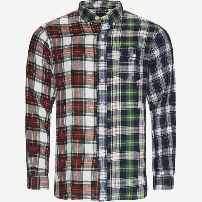 Core Fit Linen Check Fun Shirt - Skjorter - Regular - Multi