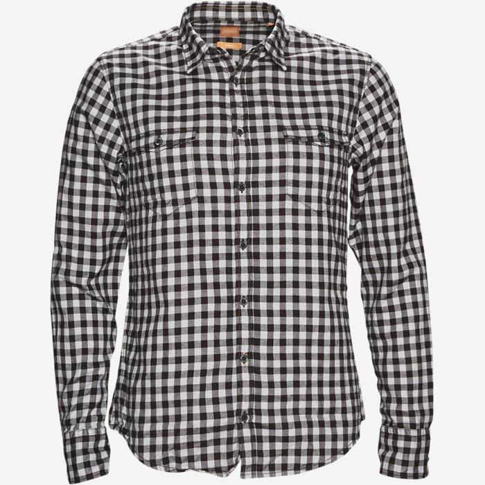 Edoslim_E Skjorte - Skjorter - Slim - Sort