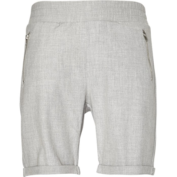 FLEX SHORTS GREY MEL - Shorts - Slim - Grå