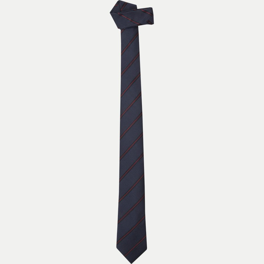DES:KF10154BL - Krawatten - NAVY/RØD - 1