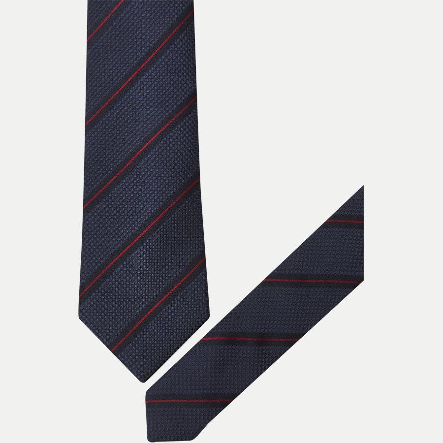 DES:KF10154BL - Krawatten - NAVY/RØD - 2