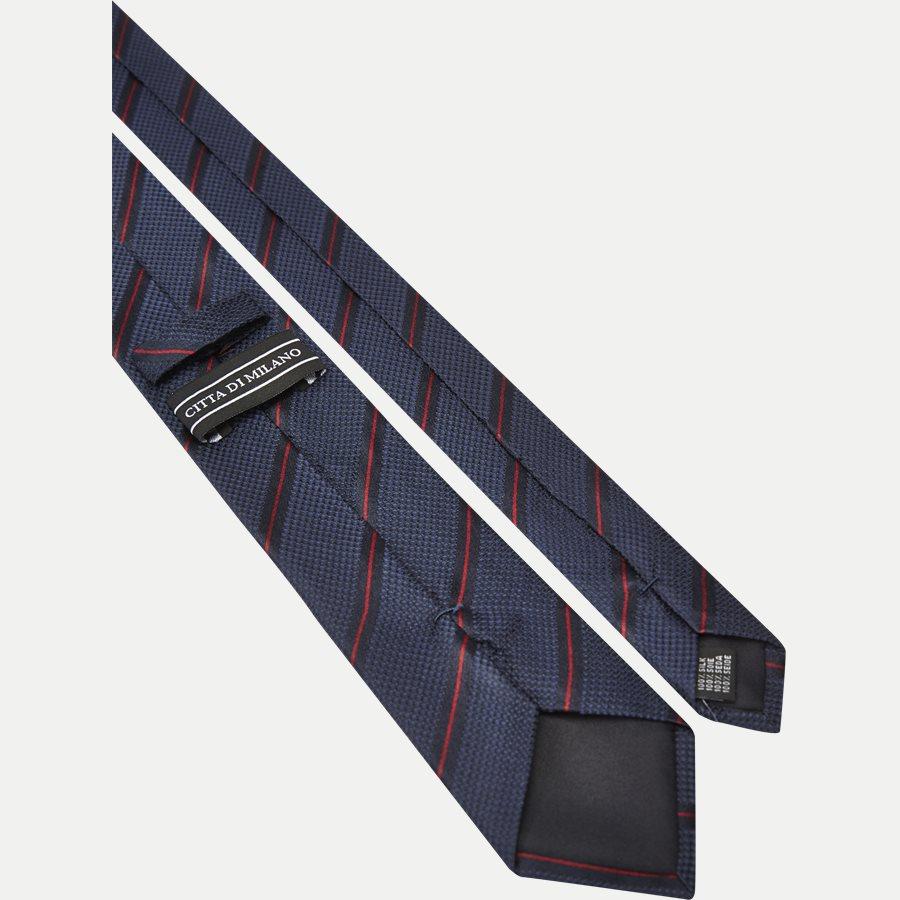 DES:KF10154BL - Krawatten - NAVY/RØD - 3