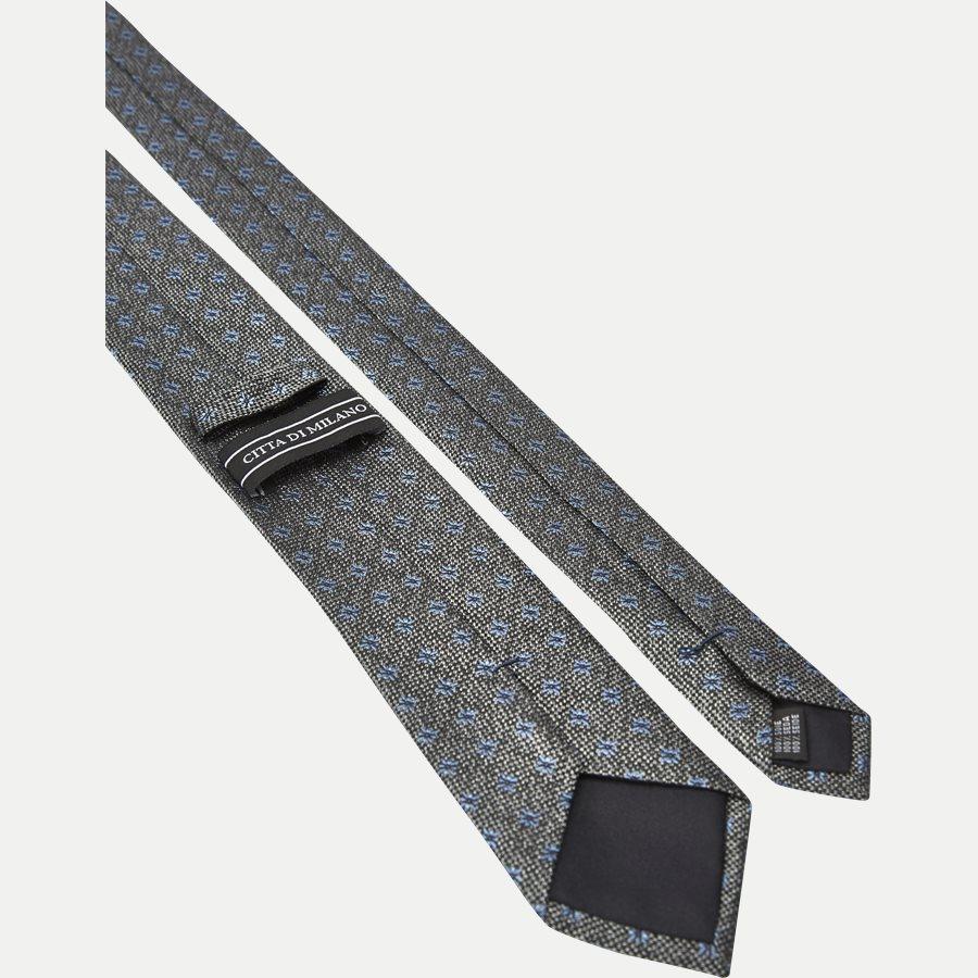 9111CR - Slipsar - GRÅ/BLÅ - 3