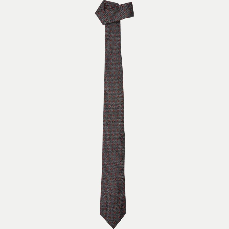 9111CR - Krawatten - KOKS/RØD - 1