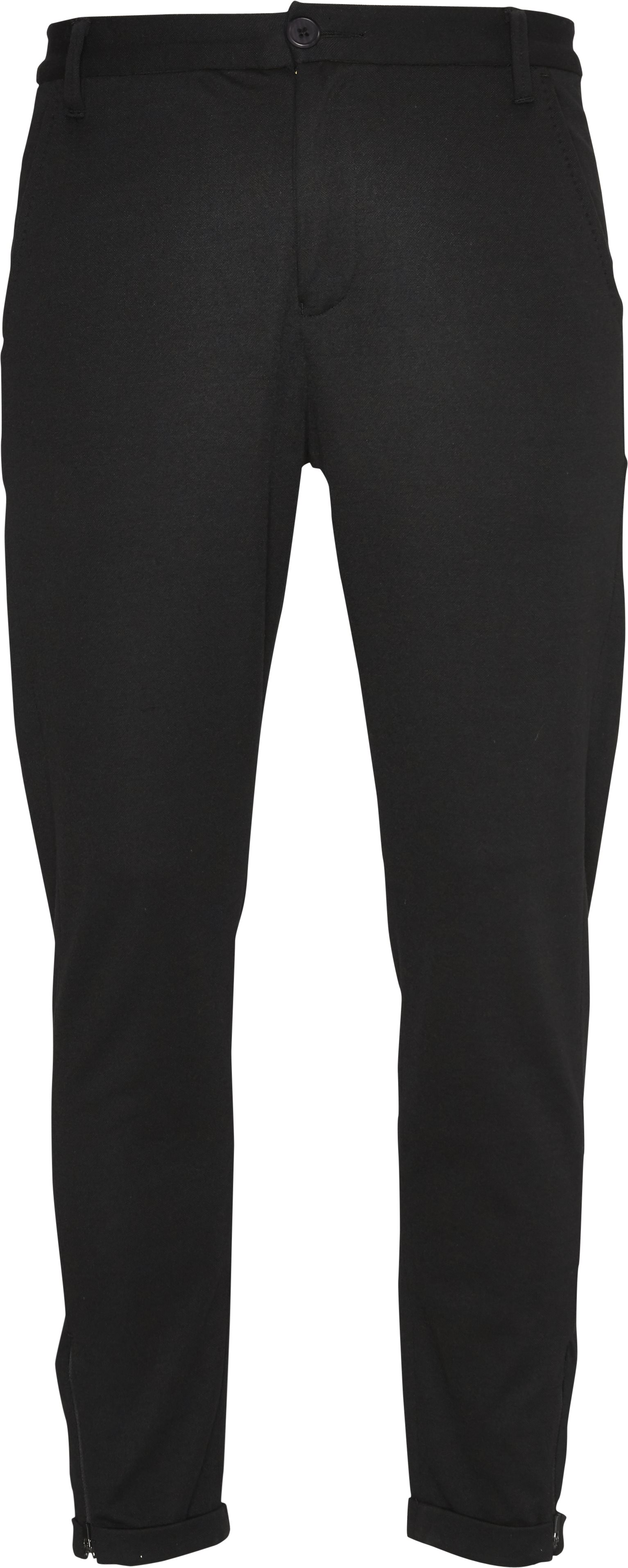 Pisa Jersey Bukser - Bukser - Tapered fit - Sort