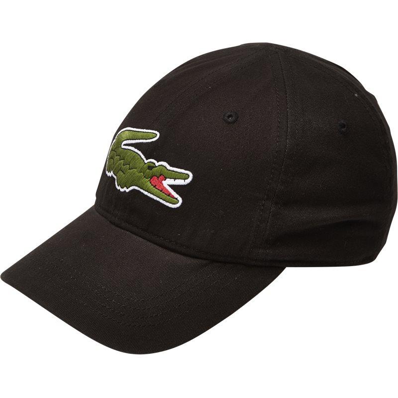 Lacoste Big Croc Gabardine Cap Sort