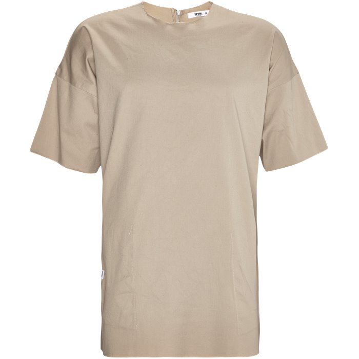 EP 6458 FRAYED WOVEN - Rund hals t-shirts - Oversize fit - Sand