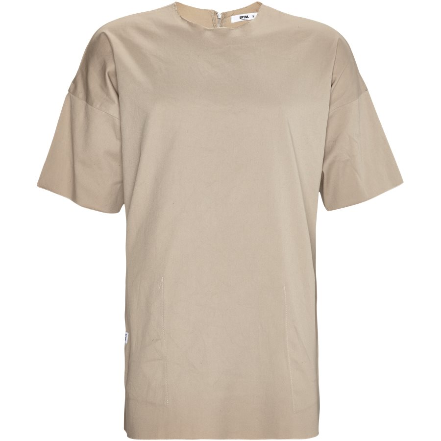 EP 6458 FRAYED WOVEN - EP 6458 FRAYED WOVEN - T-shirts - Oversize fit - SAND - 1