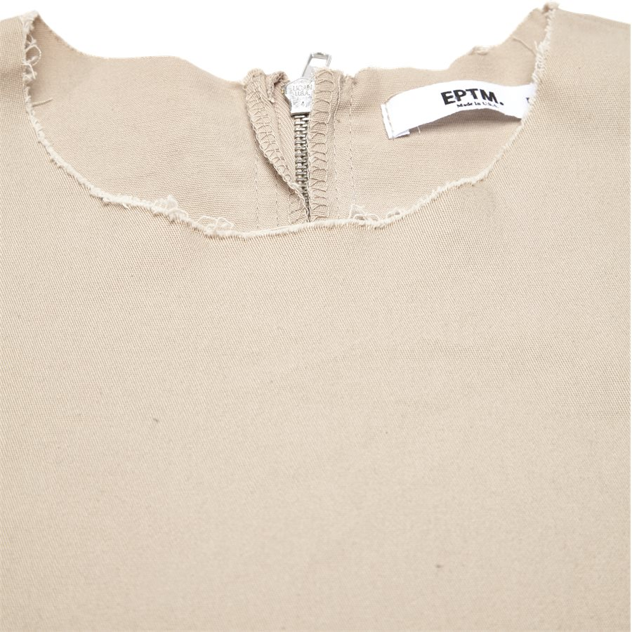 EP 6458 FRAYED WOVEN - EP 6458 FRAYED WOVEN - T-shirts - Oversize fit - SAND - 3