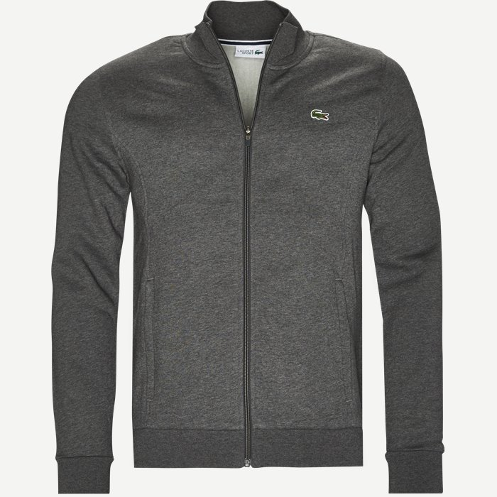 Zip-up Fleece Sweatshirt - Sweatshirts - Regular - Grå