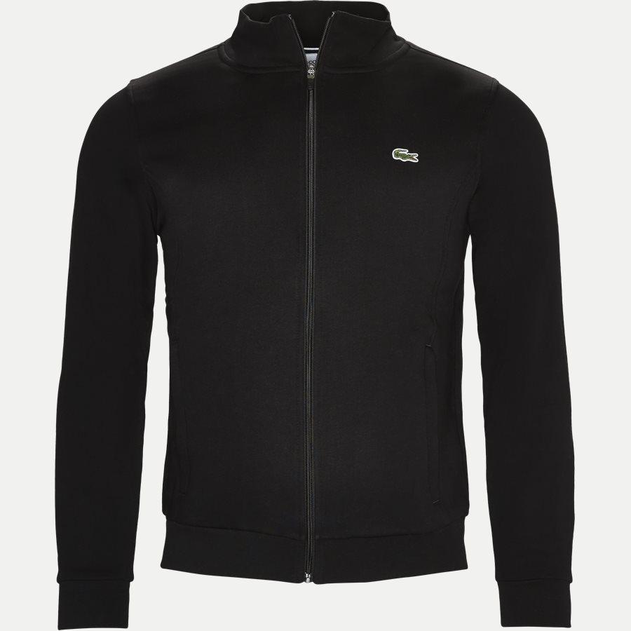 SH7616, - Zip-up Fleece Sweatshirt - Sweatshirts - Regular - SORT - 1