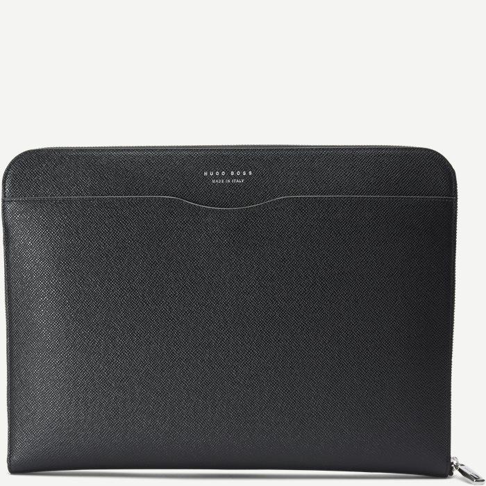 Signature Portfolio Leather Sleeve - Tasker - Sort