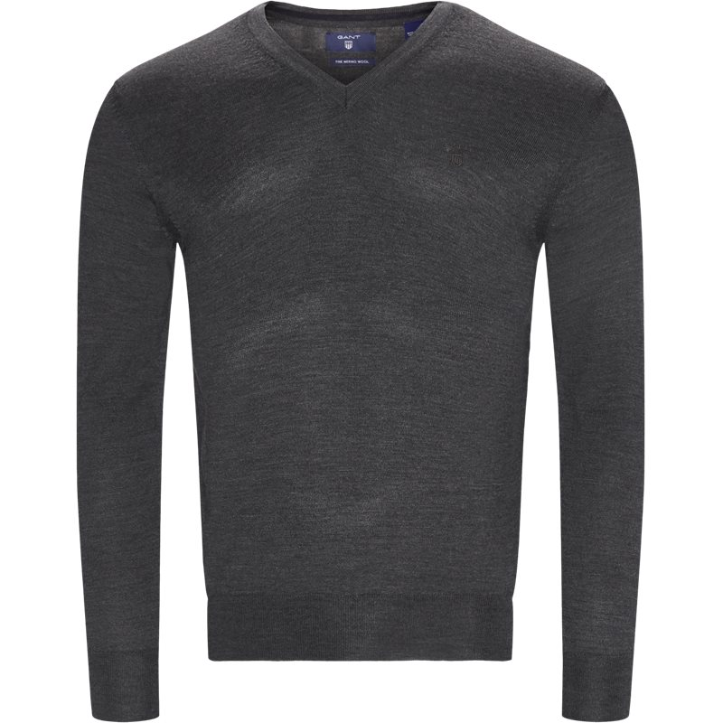 Gant - merino wool v-neck sweater fra gant fra kaufmann.dk