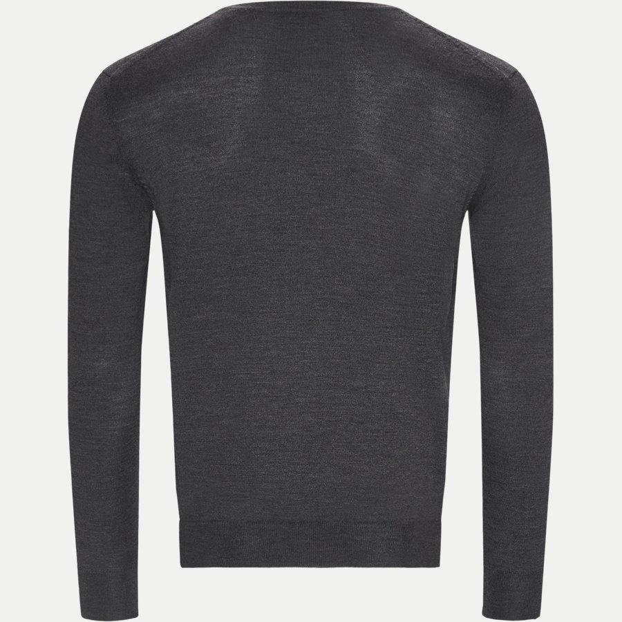 88512 - Merino Wool V-neck Sweater - Strik - Regular - ANTRASITE - 2