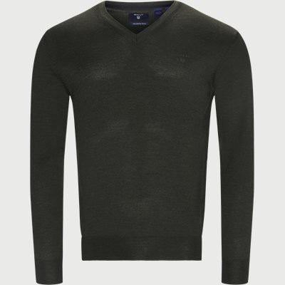 Merino Wool V-neck Sweater Regular | Merino Wool V-neck Sweater | Grøn