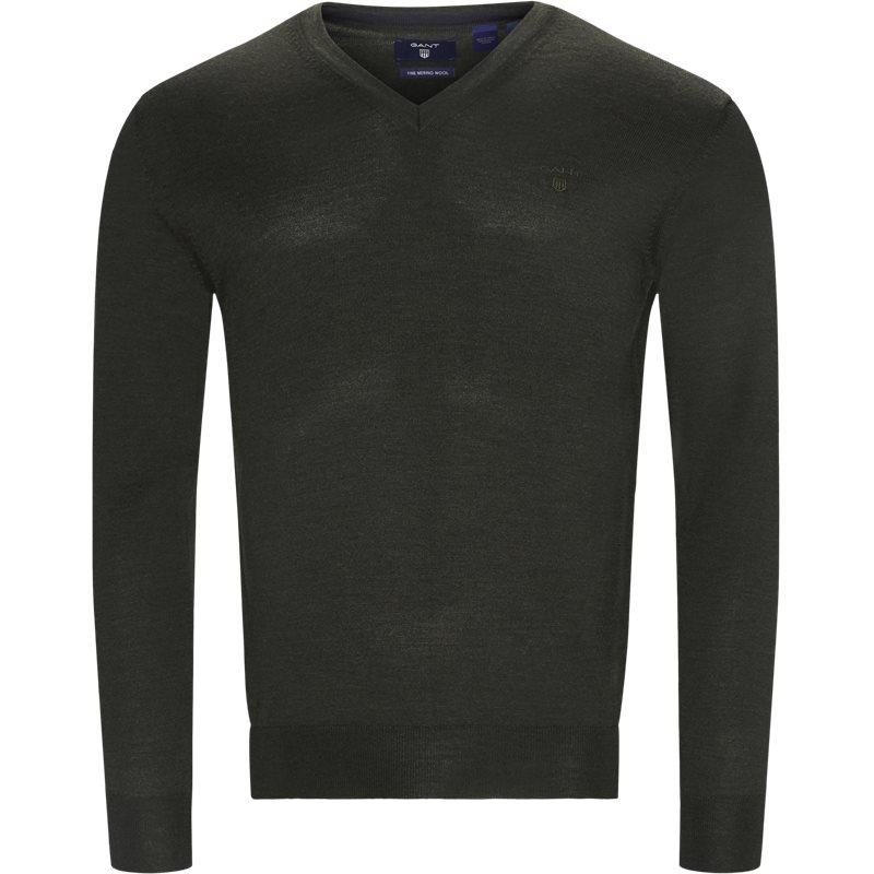 Image of   Gant - Merino Wool V-neck Sweater