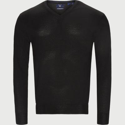 Merino Wool V-neck Sweater Regular | Merino Wool V-neck Sweater | Sort