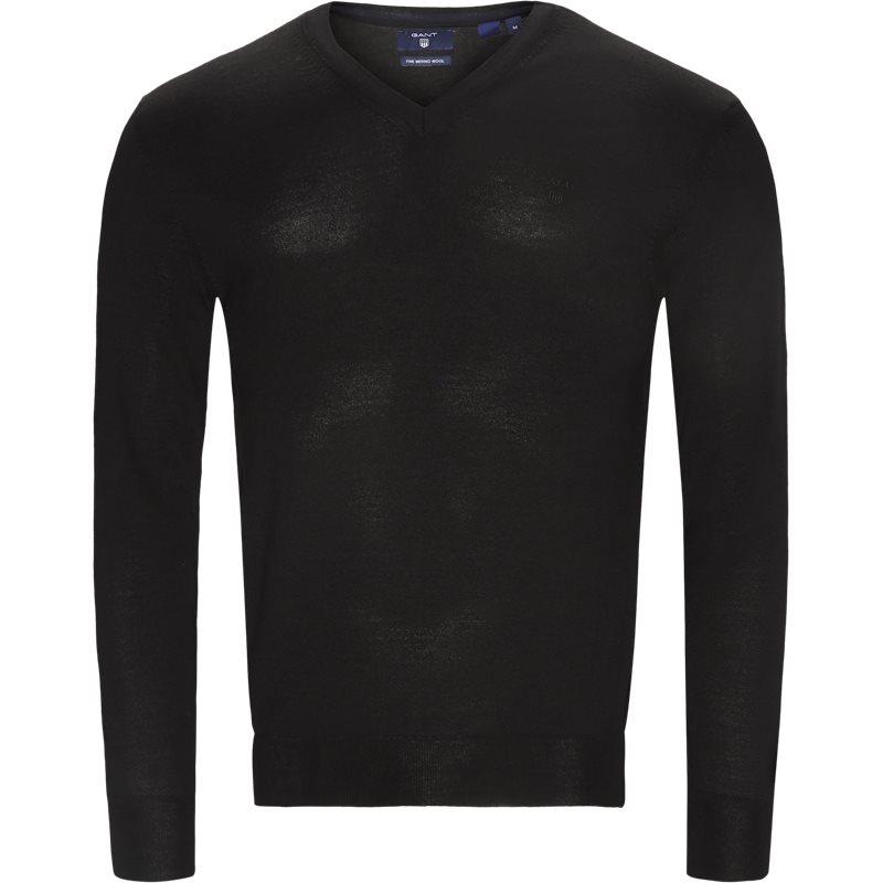 Gant - merino wool v-neck sweater fra gant på kaufmann.dk