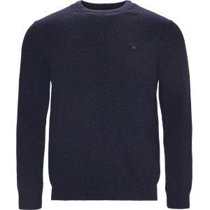Donegal Tweed Crew Neck Sweater Regular | Donegal Tweed Crew Neck Sweater | Blå
