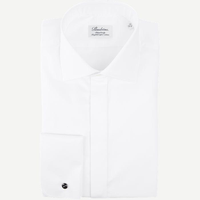 Dobbelt Manchet Skjorte - Skjorter - Hvid