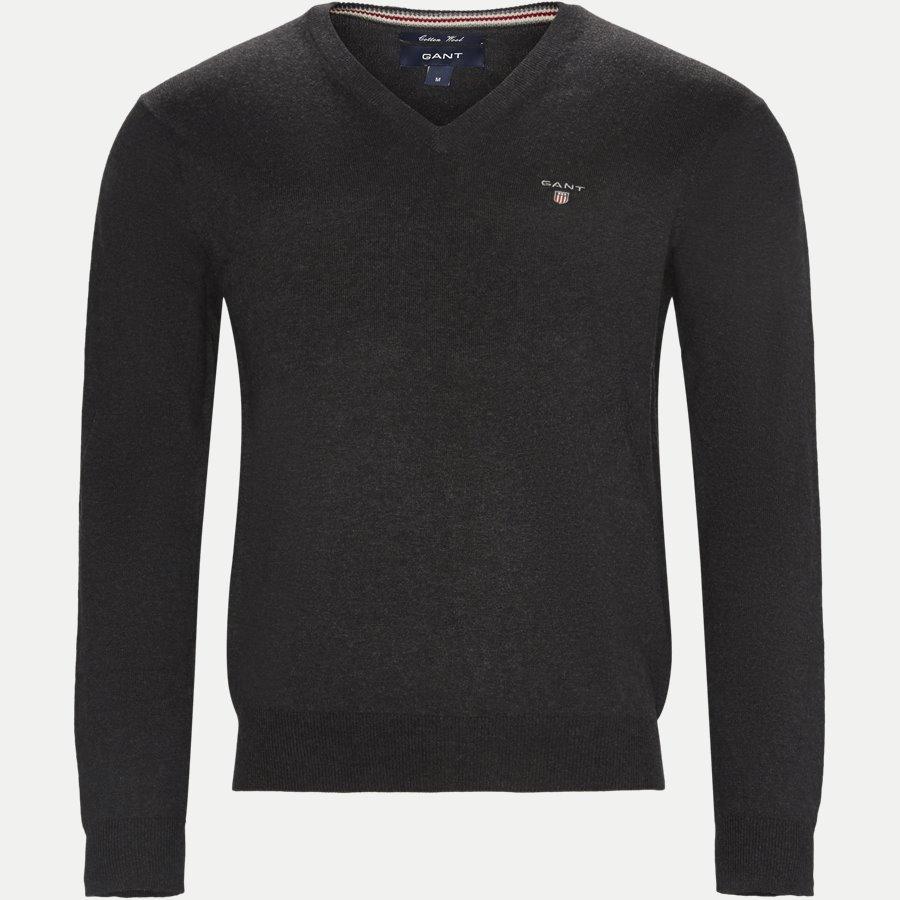 83102 V-NECK - Cotton Wool Blend V-Neck Jumper - Strik - Regular - KOKS - 1