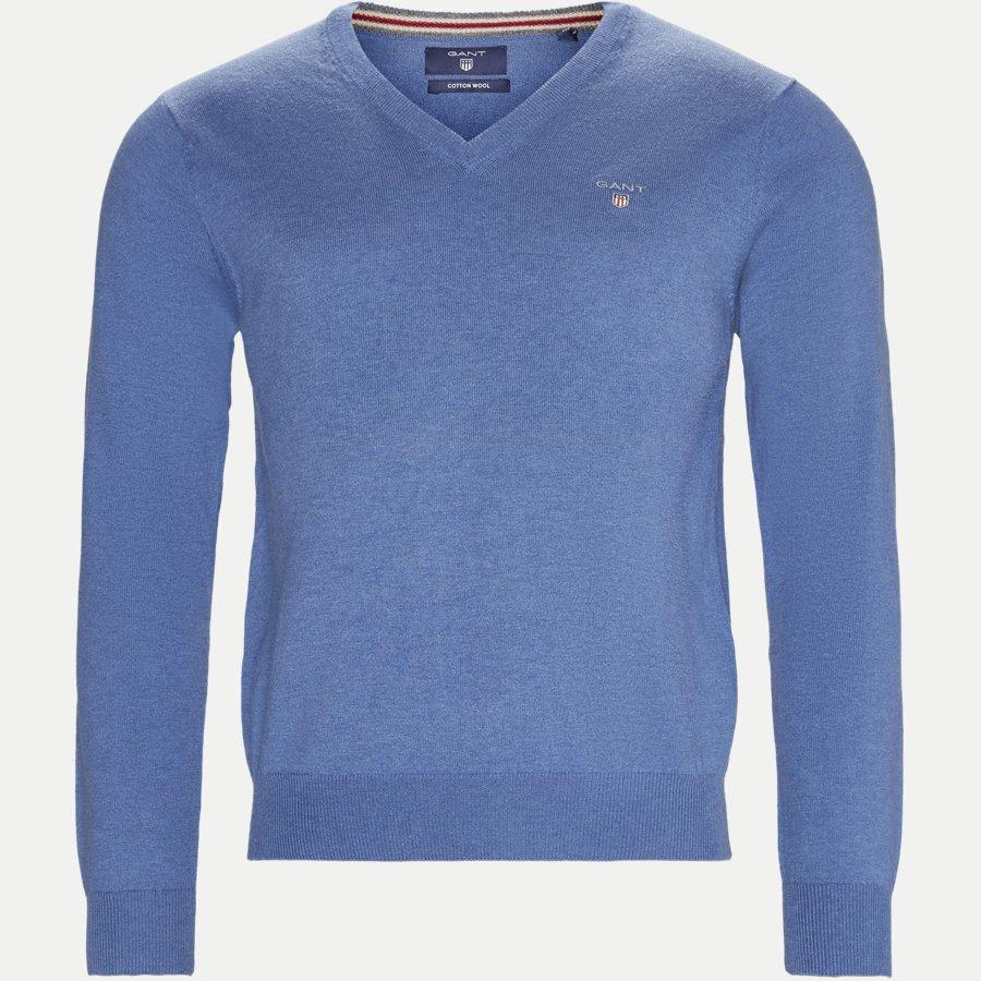 83102 V-NECK - Cotton Wool Blend V-Neck Jumper - Strik - Regular - LYSBLÅ - 1