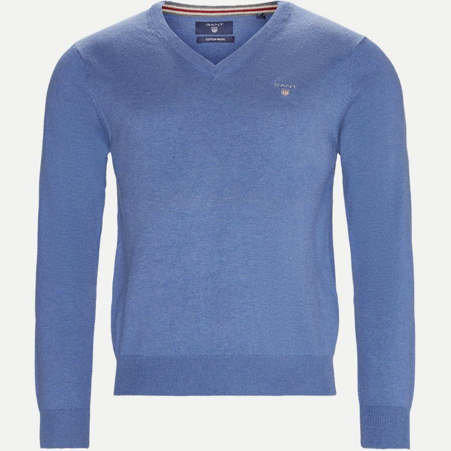 83102 V-NECK - Cotton Wool Blend V-Neck Jumper - Strik - Regular - LYSBLÅ - 1