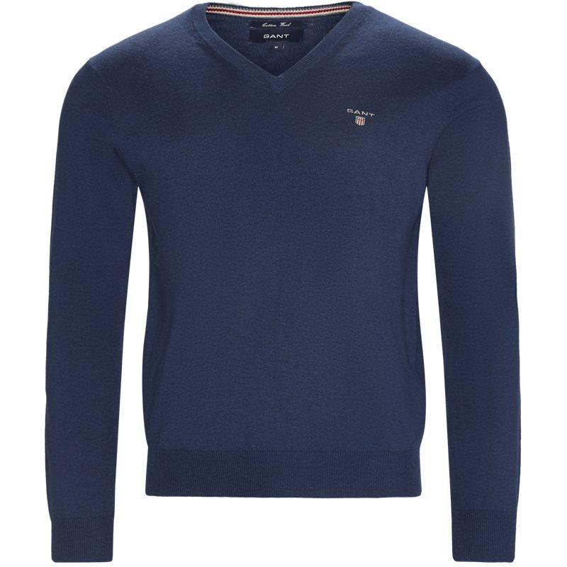 gant Gant - cotton wool blend v-neck jumper på kaufmann.dk