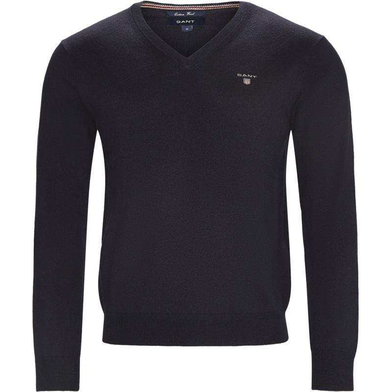 Image of   Gant - Cotton Wool Blend V-Neck Jumper