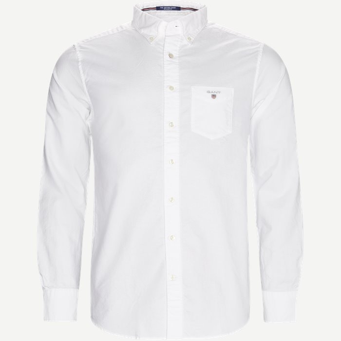Button-down Oxford Skjorte - Skjorter - Regular - Hvid