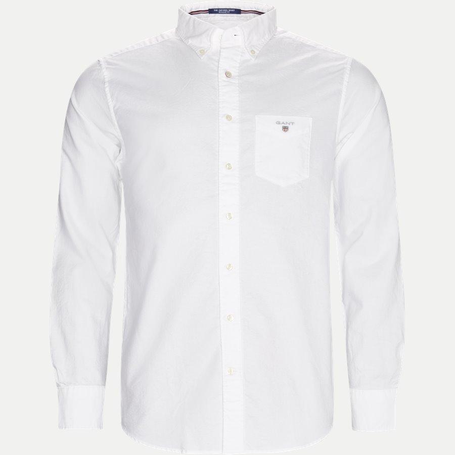 371000 OXFORD - Button-down Oxford Skjorte - Skjorter - Regular - HVID - 1