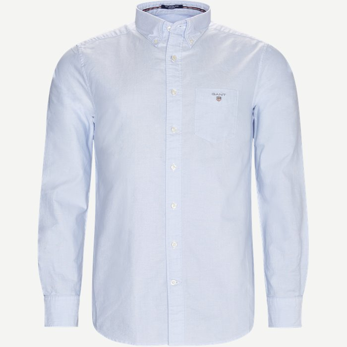 Button-down Oxford Skjorte - Skjorter - Regular - Blå