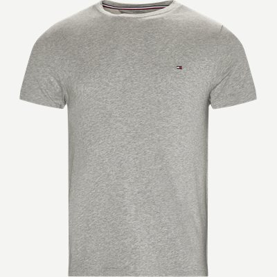 New Stretch C-neck T-shirt Slim | New Stretch C-neck T-shirt | Grå