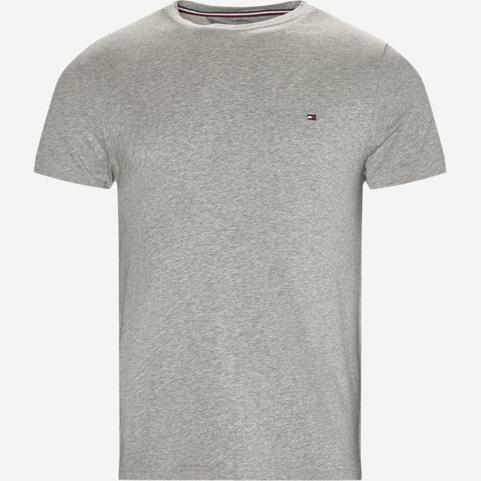 New Stretch C-neck T-shirt - T-shirts - Slim - Grå