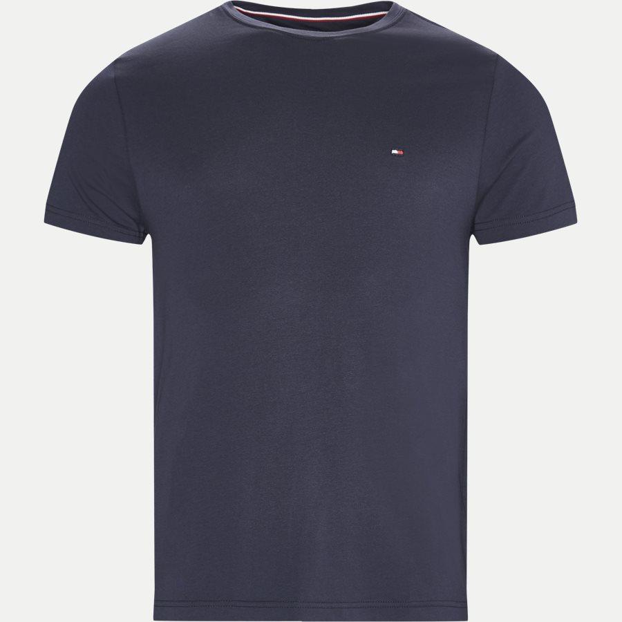 NEW STRETCH C-NK TEE - T-shirts - Slim - NAVY - 1