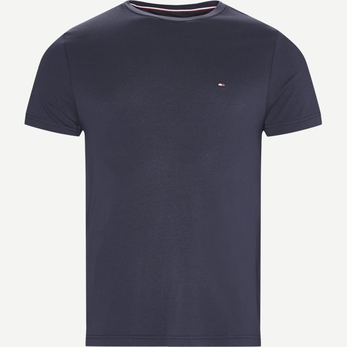 New Stretch C-neck T-shirt - T-shirts - Slim - Blå