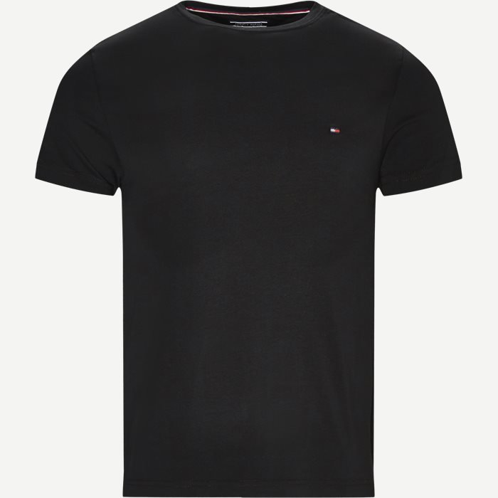 New Stretch C-neck T-shirt - T-shirts - Slim - Sort