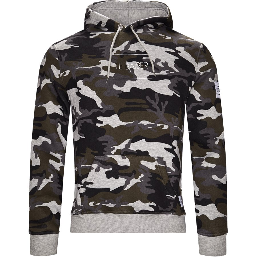 NANCY - Nancy Sweatshirt - Sweatshirts - Regular - GREY/CAMO - 1