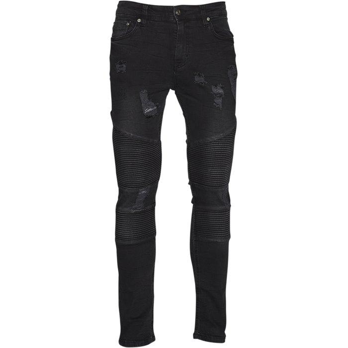 Capsel Biker Jeans - Jeans - Slim - Grå