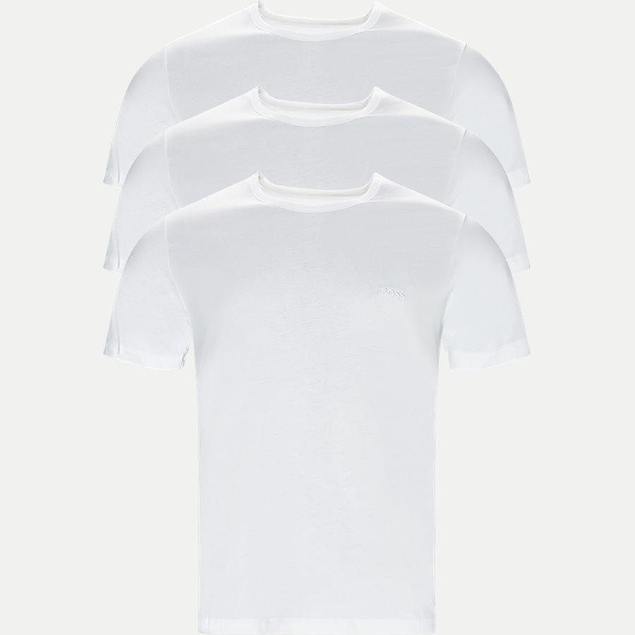 50325388 SHIRT SS RN 3P BM - 3-pak T-shirt - Undertøj - Regular - HVID - 1