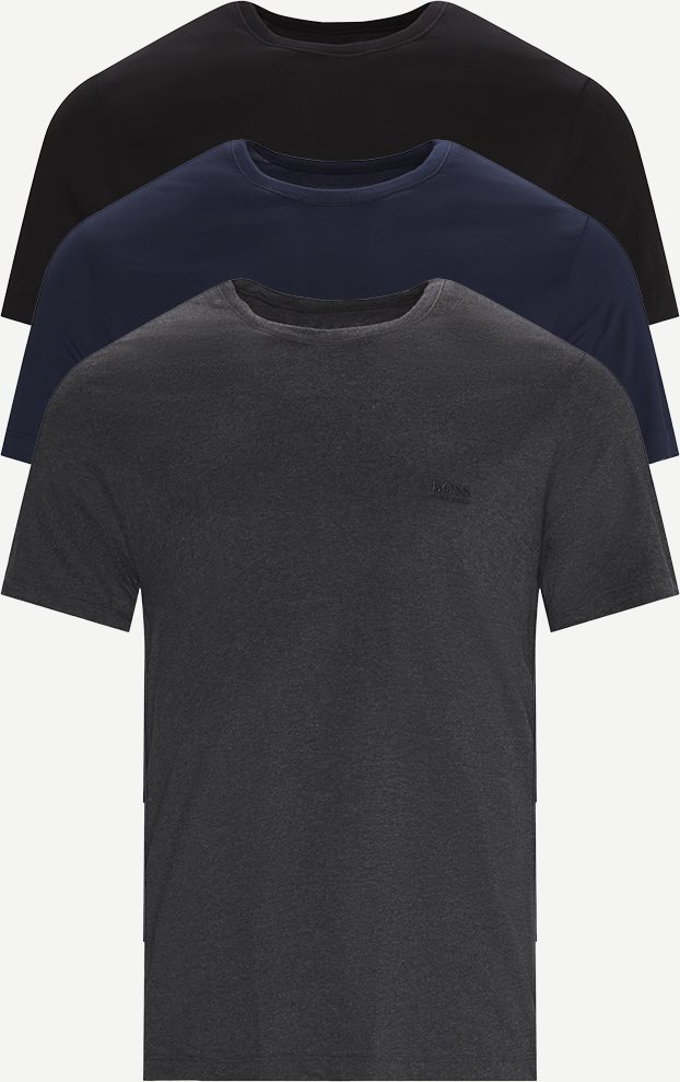 3-pack Crew Neck T-shirt - Undertøj - Regular - Blå