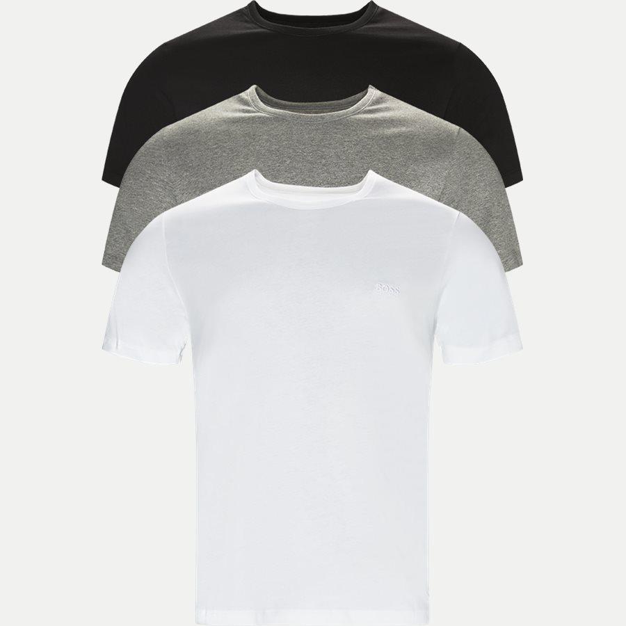 50325388 SHIRT SS RN 3P BM - 3-pak T-shirt - Undertøj - Regular - SORT/HVID/GRÅ - 1