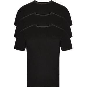 3-pak T-shirt Regular | 3-pak T-shirt | Sort